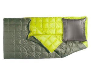 Cuscino/sacco/coperta in piuma d'oca Monday's verde e grigio - max 200X200 cm