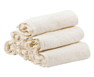Set di 6 lavette uncinetto in cotone ecru' - 30x30 cm