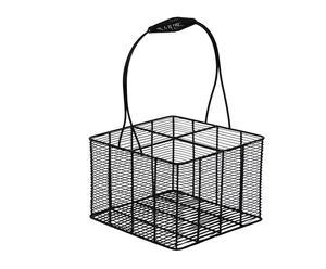 Cestello portabottiglie a 4 spazi in acciaio Venice - 22x36x22 cm