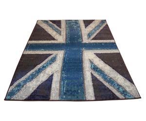 Tappeto Hypnotic Union Jack blu - 160x235 cm