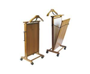 Stirapantaloni richiudibile in faggio con rotelle - 43X102X35 cm