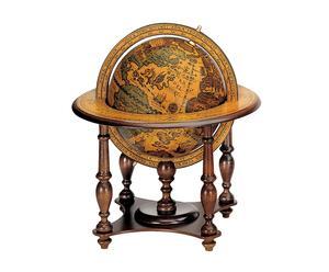 Mappamondo decorativo da tavolo in legno - D 32/h 35 cm