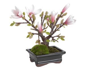 Bonsai artificiale con vaso Magnolia Zenii - h 29 cm
