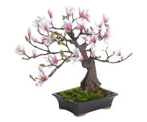 Bonsai artificiale con vaso Magnolia Zenii - h 55 cm