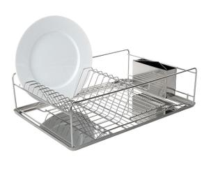 Scolapiatti in acciaio inox con portaposate - Kitchen