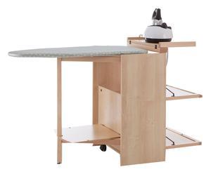 Mobile con asse da stiro e ripiani in faggio naturale - 153x90x55 cm