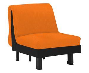Poltrona letto in cotone Lillo arancione - 110x85x95 cm