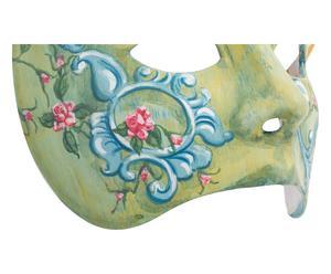 Maschera con decori pittorici verde - 20x15 cm