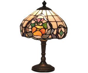 Lampada tiffany in ottone e vetro Lucrezia - 20x35 cm