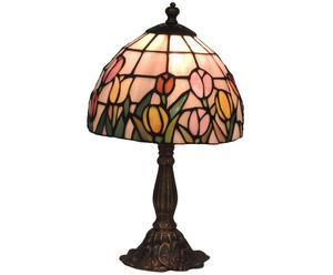 Lampada tiffany in ottone e vetro Arianna - 20x35 cm