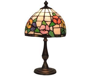 Lampada tiffany in ottone e vetro Aurora - 20x35 cm