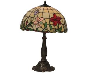 Lampada tiffany in ottone e vetro Rossana - 40x60 cm