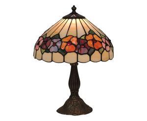Lampada tiffany in ottone e vetro Lisa - 30x45 cm