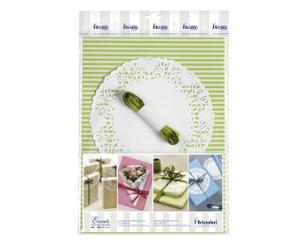Set per confezioni regalo con righe verde - 4 pz