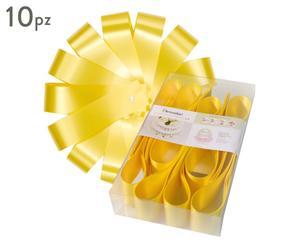 Confezione di 10 decorazioni per torte Cake Skirt giallo - d 32 cm