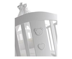 Culla in faggio con materasso Danny bianco - 90x72x54 cm
