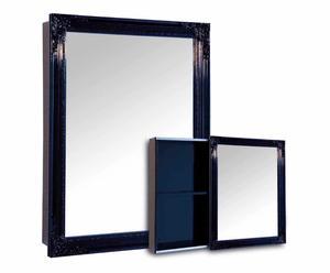 Specchio contenitore in abete blu - 60x80 cm