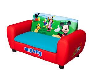 Divanetto 2 posti contenitore in legno Mickey - 81x43x41 cm
