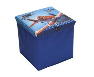 Pouf contenitore pieghevole in tnt Planes - 27x27 cm