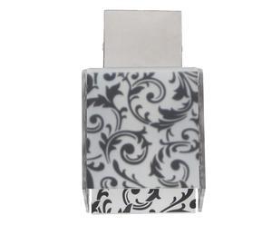 Plafoniera in acciaio e pmma Decodado Damascato nero - 11x18x11 cm