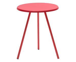 Tavolino in metallo Jizzy rosso - 40x50 cm