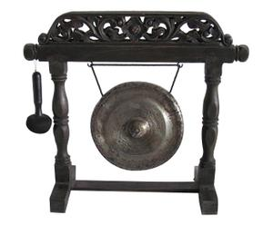 Gong con supporto in legno di rose - 51x20x56 cm