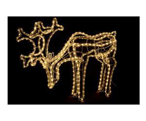 Renna luminosa a led da appoggio Grass bianco caldo - 60x50x12 cm
