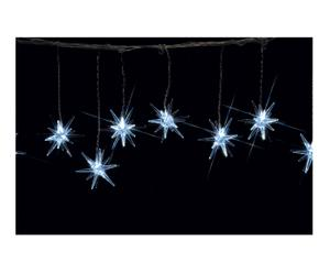 Fila luminosa di stelle Luxury bianco freddo - 570 cm