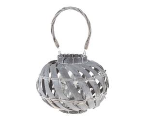 Lanterna portacandela in betulla Cherize - 23x30x43 cm