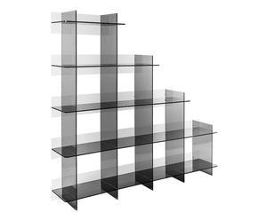 Libreria in plexiglass Atmosfera 3 fume\' - 180x180x300 cm