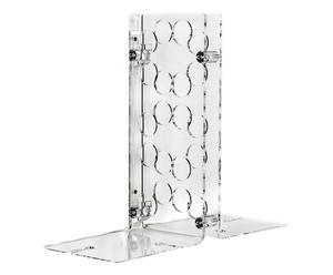 Portabottiglie da parete in plexiglass Sommelier trasparente - h 40 cm
