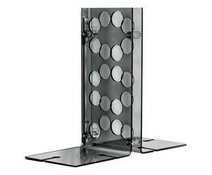 Portabottiglie da parete in plexiglass Sommelier fume\' - h 40 cm
