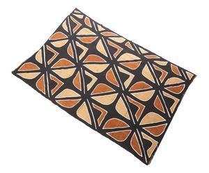 Arazzo in cotone Sioux marrone e bianco - 130x170 cm