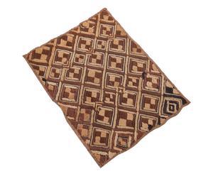 Arazzo in rafia Faraj marrone - 45x55 cm