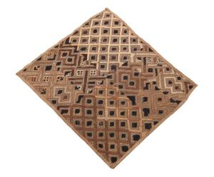 Arazzo in rafia Zaira marrone - 45x55 cm