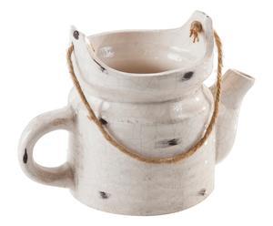 Caffettiera in ceramica Loto - 21x12x14 cm