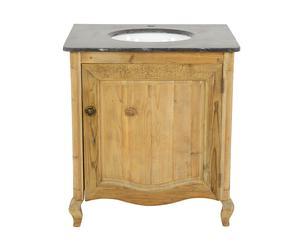 Mobile bagno decor in pino con lavello Vanity - 79x86x60 cm