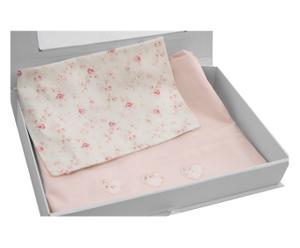 Completo per lettino Romantica rosa - 3 pz