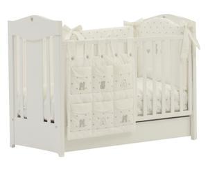 Lettino per bimbo Romantica bianco - 74x105x132 cm