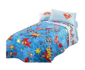 Copriletto trapuntato singolo in cotone - Sky Superman
