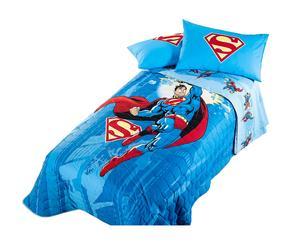 Copriletto trapuntato singolo in cotone - Superman