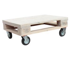 Tavolo da fumo in legno bancale Industrial sbiancato - 80x30x60 cm