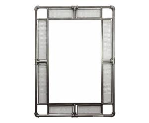 Specchio da parete in metallo bordato Idra - 65x90x3 cm