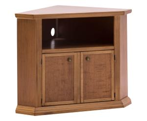 Porta tv angolare a 2 ante in faggio e pioppo - 105x80x63 cm