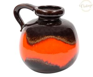 Vaso in ceramica anni 60 West Germany - 23x23 cm