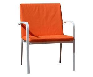 Set di 2 cuscini seduta + schienale in tessuto arancione - 57x4x93 cm