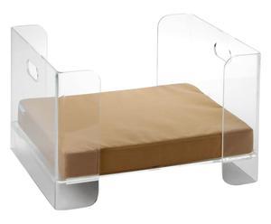 Cuccia per cane in acrilico trasparente - 44x36x53 cm