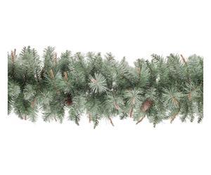 Ghirlanda decor di pino ghiacciato per esterni c/pigne - d 30/h 270 cm