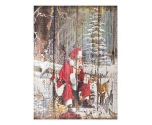 Quadro decorativo in legno Babbo Natale - 60x80 cm