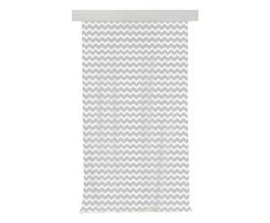 Tenda in misto cotone Righe grigio - 140x270 cm